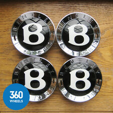 4 NEW GENUINE BENTLEY CONTINENTAL GT GTC SPUR CENTRE CAPS HUB BADGE 3W0601159P