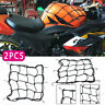 2x Super Strong Motorcycle Motorbike 6 Hook Luggage Cargo Net Storage Bag Black