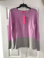 NWT Lilly Pulitzer Rica Cashmere Sweater Lilac Freesia Grey Color Block Large