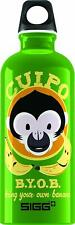 Sigg 8394.50 Water Bottle 0.6 L B.Y.O.B. Green Cuipo Monkey bpa free banana