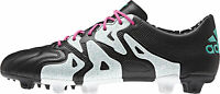 Adidas X 15.1 Firm Ground / AG Leather Mens Football Boots - Black