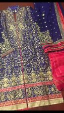 Pakistan Heavy Embroidered Bridal Stitched Salwar Kameez SMALL Chest 33