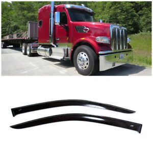 For Peterbilt 567 579 2013-17 Window Visors Side Sun Rain Guard Vent Deflectors