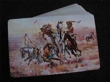 VINTAGE 1960's PACK of PLAYING CARDS - CM RUSSELL - WESTERN - NATIVE AMERICAN