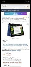 New listing Acer Chromebook R11 Cb5-132T-C67Q Intel Celeron N3060 Processor 32Gb - Blue
