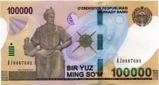 NEW UZBEKISTAN BANKNOTE 100000 SUM 2019y UNC