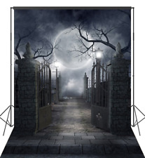 Halloween Pictorial Cloth Photography Background Computer Vinyl Backdrop 6x9FT