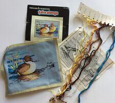 MONARCH HORIZONS MTA 101 PINTAIL DUCKS Cross Stitch Partially Complete Kit Set