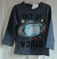 New Next 100% cotton Top Navy age 18-24 months