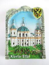 Magnet Kloster Ettal Polyresin, Souvenir Deutschland Germany