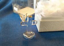 Religious Hand sculptured Glass Bird & Cross edge dipped 22K gold