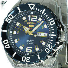New Seiko Baby Monster Auto Blue Dial With Stainless Steel Bracelet SRPB37K1