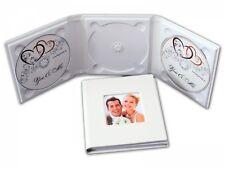 3er CD/DVD/BluRay Hülle. DVD Case für 3 Disk mit 1 Bildfenster.