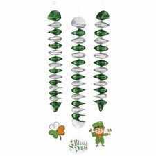 St Patricks Day Spiral Decorations Irish Fancy Dress Party Leprechaun Shamrock