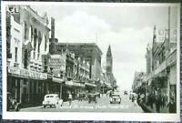 rare 1900's Victorian Stamp Market postcard Collins St looking west Melbourne