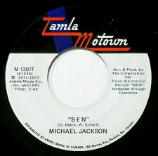 MICHAEL JACKSON - HEAR IT -1972 CANADA PRESS - BEN / YOU CAN CRY ON MY SHOULDER