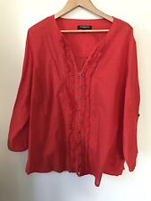 Plus Size Red top shirt blouse sz 20 Clothing Company