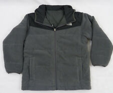 North Face Boys KIDS Reversible True Or False Jacket Graphite Grey $99 M 10-12