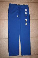 Nwt Abercrombie Boys Large Slim Straight Blue a & f 92 Sweatpants