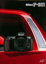 Nikon F-601 Prospekt brochure deutsch german - (0731)