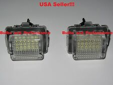 2008 - 2012 Mercedes C300 C350 C63 White LED License Plate Light Set Error Free
