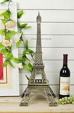 Fast express 60cm Tall Paris Eiffel Tower Statue Metal Figurines Bronze Decor
