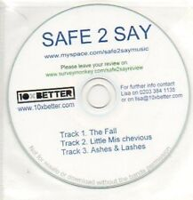 (63J) Safe 2 Say, The Fall / Little Mis Chevious- DJ CD