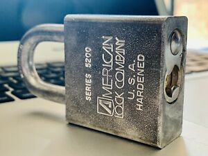 U.S. Navy American High Security Padlock 5200 No Key Locksport