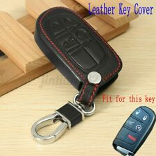 4 Button Remote Key Fob Case Cover For Jeep Grand Chrysler 300 Dodge PU Leather