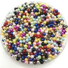200pcs 4mm Imitation Pearls Round Pearl Spacer Loose Beads DIY Jewelry Making