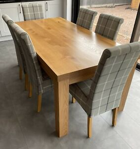 Oak Furniture Land Oak Dining Table with 6 chairs