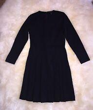 Nwt JCREW $128 PLEATED PONTE DRESS 2P BLACK STRETCH WORK OFFICE G0906