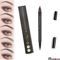 2-In-1 Microblading Tattoo Eyebrow Eyeliner Pen Pencil Long Last 3D Fork Makeup