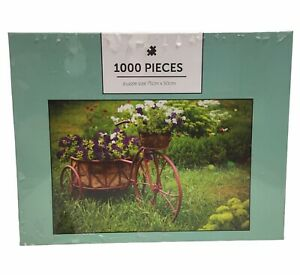 1000 Piece Jigsaw Puzzle - Flower Garden Bike - Sealed In Plastic Age 10+
