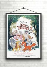 The Fox And Hound Vintage Classic Large Movie Poster Print A0 A1 A2 A3 A4