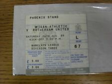 26/08/1989 Ticket: Wigan Athletic v Rotherham United  (folded). Any faults with