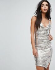 BNWT LIPSY Strappy Silver Sequin Sparkly Dress Size 10