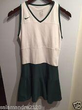 Nike Dri-Fit Women's Sleevless Tennis Dress Size Small White Green