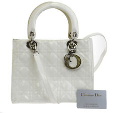Auth Christian Dior Cannage Lady 2Way Shoulder Hand Bag Patent Leather 17EK943