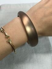 NEW RARE Alexis Bittar Medium Tapered Lucite Bangle Bracelet WARM BROWN $85