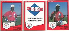1989 Pro Cards Jacksonville Expos 29-card Minor League Team Set  Marquis Grissom