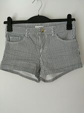 H&m Blue And White Striped Shorts UK Size 8 Eur 34