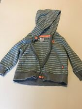 Infant Baby Boy Zip-up striped Hoodie