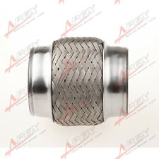 """3.5"""" Exhaust Flex Pipe 4"""" Heavy Duty Stainless Steel Bellows Double Braid"""