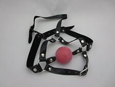 Red Ball Gag Head Harness Lockable Sexy Dress Up Free U.K Delivery