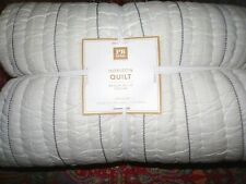 POTTERY BARN TEEN Horizon Quilt, Full/Queen, Ivory, new