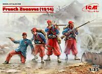 ICM 35709 - 1/35 French Zouaves (1914) (4 figures) (100%  models) plastic kit