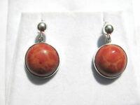 Schaumkoralle Ohrhänger Coral earrings 925 Silber Nr. E7411