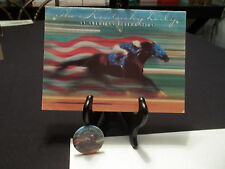 1991 Kentucky Derby Governor's Breakfast Invitation and Button Pin