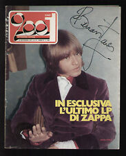CIAO 2001 37/1973 BRIAN JONES ZAPPA FERLINGHETTI ORME BAGLIONI NETTUNO FESTIVAL